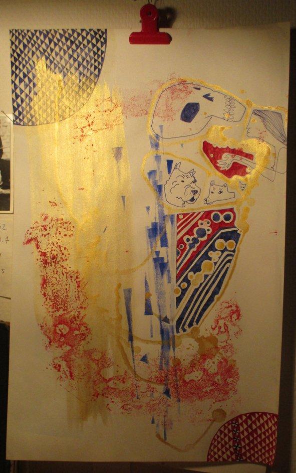 Peinture sur macule - FloRe - florcarnivor.unblog.fr